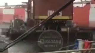 Плавучий кран повредил корабль