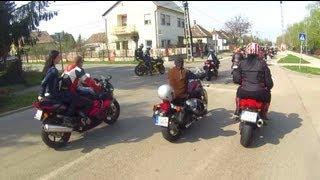 preview picture of video 'Motoros Felvonulás Komárom 2013.04.20'