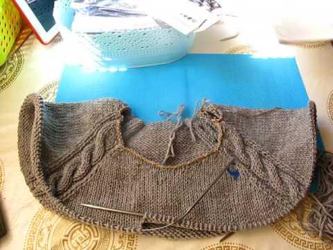Вязание пуловера регланом сверху для начинающих. Часть 8.