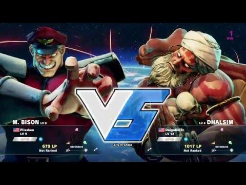Street Fighter 5 M Bison Vs Dhalsim