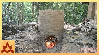Primitive Technology Termite clay kiln pottery Video