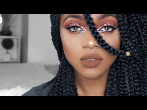 Glitter Cut Crease on Hooded Eyes Makeup Tutorial | Luchi Loyale