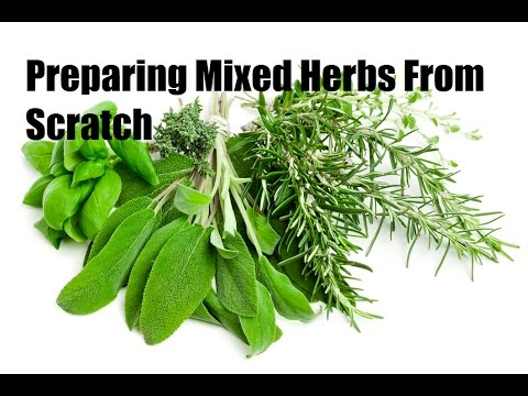 How to make fresh mixed herb from scratch | French Cooking Techniques