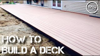 HOW TO BUILD A DECK : START TO FINISH (Part 1 of 2)