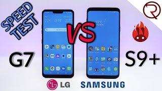 LG G7 ThinQ VS Samsung Galaxy S9+ SPEED TEST
