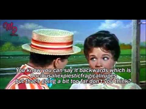 "Mary Poppins (1964) - ""Supercalifragilisticexpialidocious"" - Video/Lyrics"