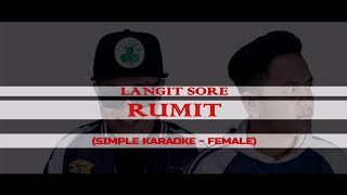 Langit Sore   Rumit [Acoustic Karaoke   FEMALE]