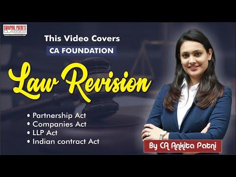 CA Foundatin Law Revision by CA Ankita Patni | #LawMarathon