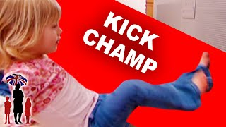 Girl Kicks TV | Kids Tantrum | Supernanny