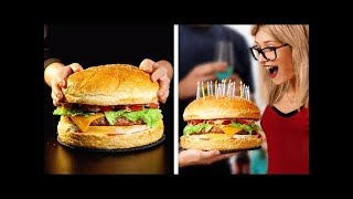 ĐỒ ĂN MINI VÀ ĐỒ ĂN SIÊU TO KHỔNG LỒ || Mẹo và Ý tưởng nấu ăn hay