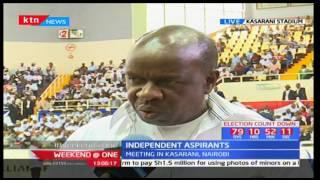 Independent candidates led by William Kabogo gather in Kasarani  to endorse President Uhuru