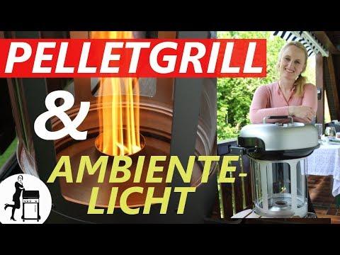 Häussler Pelletgrill / Ambientelicht / Luxus-Grill  Die Frau am Grill