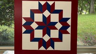 #3 Lets Make A Barn Quilt! - Carpenter's Star