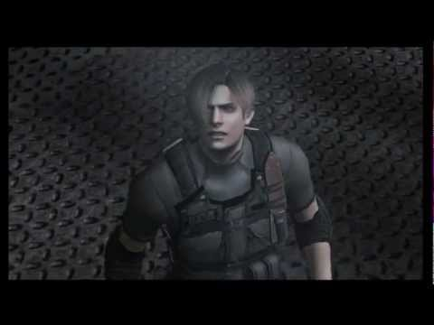 Resident Evil 4 Leon vs Krauser knife fight HD