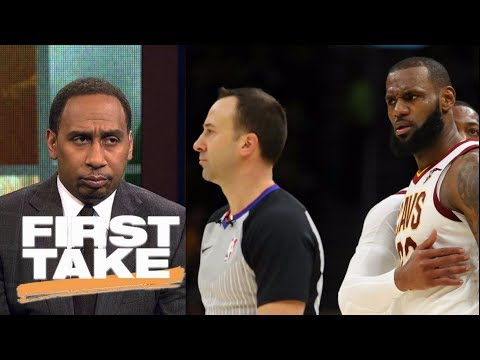 Stephen A. Smith says LeBron James deserved to be ejected | First Take | ESPN