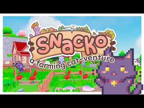 《Snacko》貓咪版牧場物語 公開最新宣傳影片 預計2021年登陸Steam
