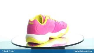 Prince T22 Junior Shoes White Pink video