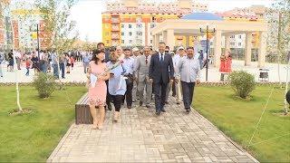 В микрорайоне Астана 15 шымкентцев получили ключи от квартир