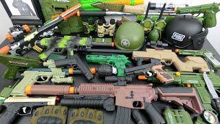 Military Guns Toys & Equipments - Box of Toy Soldier Guns