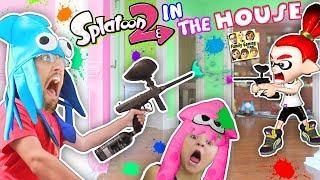 SPLATOON 2 in the HOUSE! Paintballs EVERYWHERE! (FGTEEV Mom vs. Dad vs. Chase)