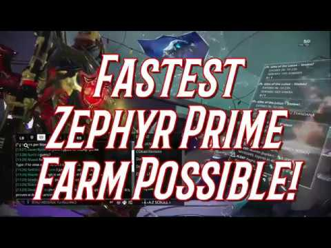 Warframe - FASTEST Zephyr Prime Farm Possible! (Proven with Drop Chances + Percentages!)