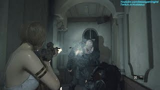 Resident Evil 2 Remake - Katherine Warren Meets REAL Nemesis (Mr.X Replaced) *read desc*