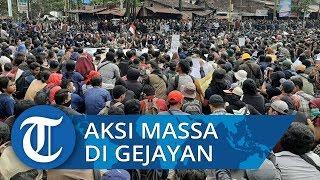 Ribuan Mahasiswa Unjuk Rasa Protes DPR dan Pemerintah di Yogyakarta