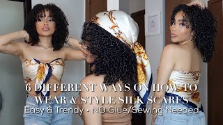 HOW TO WEAR AND STYLE SILK SCARFS   NO Glue/Sewing Needed   EASY & TRENDY   Scarflings
