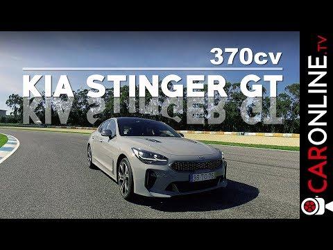 Conduzi o KIA STINGER V6 com 370 cv e logo em PISTA! [Review Portugal]