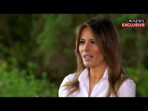 "Melania Trump says she loves President Donald Trump and has ""much more important things to think about"" than allegations he cheated on her with a porn star, a Playboy Playmate or anyone else. (Oct. 12)"