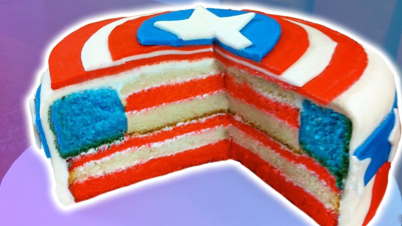 HOW TO MAKE A CAPTAIN AMERICA CAKE - NERDY NUMMIES thumbnail