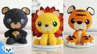 LIONS, TIGERS AND BEARS CAKE   Kawaii Animal Birthday Party  Cake Art   Koalipops