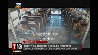 Asalto En Bus Quedó Grabado En Video De Seguridad