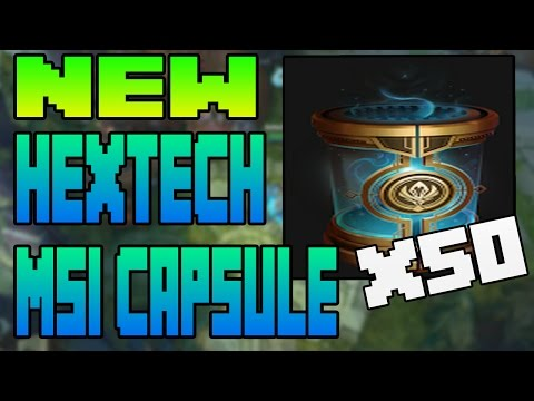 NEW HEXTECH MSI CAPSULE UNBOXING OPENING X50 | League of Legends 7.8 | Patch 7.8