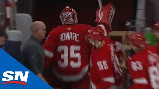 Patrick Kane's Casual End-To-End Goal Causes Jimmy Howard To Exit And Snap Stick