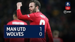 The best of the action as Juan Mata's goal secures Manchester United's passage into the FA Cup fourth round, with a 1-0 victory over Wolves at Old Trafford.  Hit 'Subscribe' above to ensure you never miss a video from the BT Sport YouTube channel.  Visit and subscribe to our 'BT Sport Boxing' YouTube channel ➡️ http://www.youtube.com/c/btsportboxing  Twitter: http://twitter.com/btsport Facebook: http://www.facebook.com/btsport Instagram:http://instagram.com/btsport Website: http://sport.bt.com