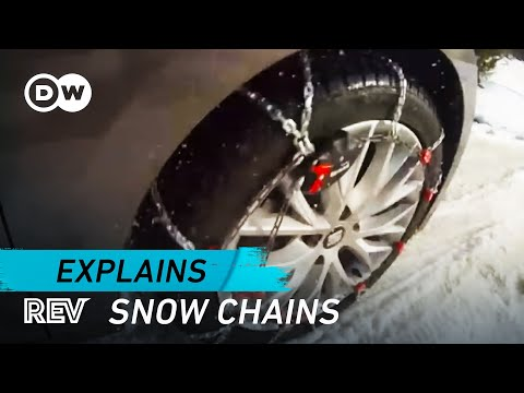 Driving safely with snow chains   Drive it!