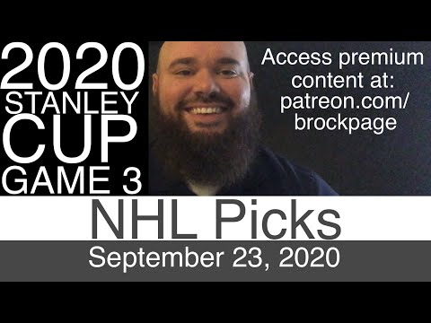 NHL Picks Today (9-23-20) Game 3 Tampa Bay Lightning vs Dallas Stars | 2020 Stanley Cup Finals