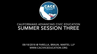 CACE Summer 2018 Session 3