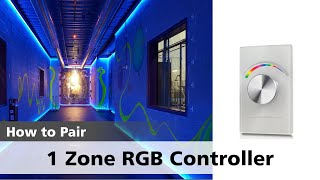 Watch how to pair a ZIP-RGBW 1 Zone Controller with its Receiver