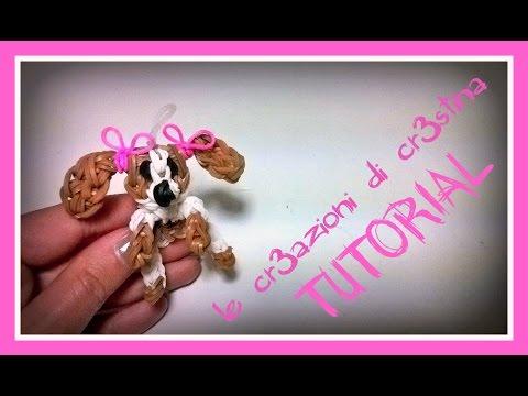 Tutorial Cane/Cagnolino con Elastici RAINBOW LOOM - DIY Dog Charm