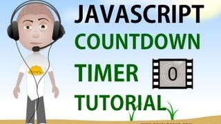 Javascript countdown timer tutorial setTimeout clearTimeout programming html