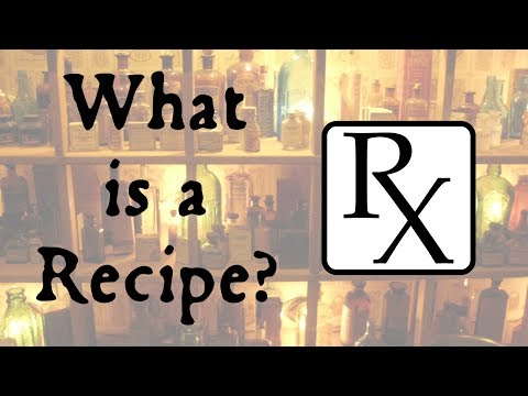Video What's the Recipe for a Recipe?