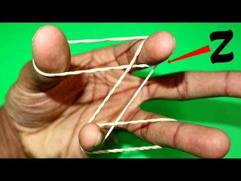 How To Make Alphabets With Rubber Band. Super Easy!