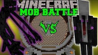 SLENDERMAN VS MUTANT ENDERMAN & ENDERMAN - Minecraft Mob Battles - Creepy Pasta Mods