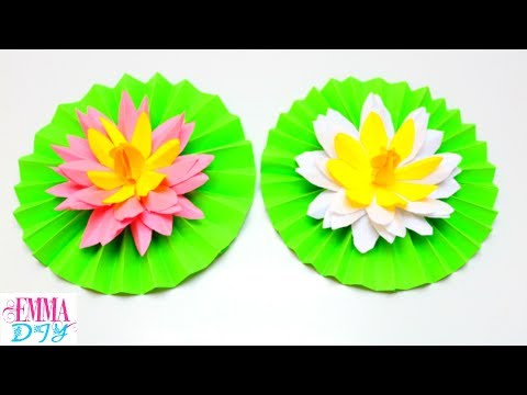 How to make paper lotus flower yelomdiffusion lotus flower paper craft images flower decoration ideas how to make mightylinksfo