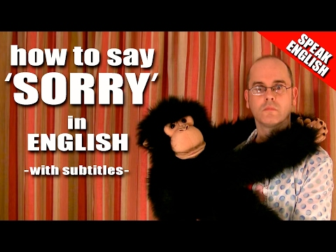 Learn English with Mr. Duncan - Lesson 10 (Saying Sorry)