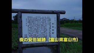 夜の安田城跡富山県富山市