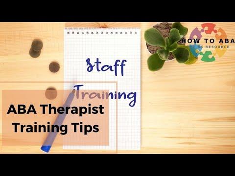 ABA Therapist Training Tips - YouTube