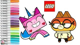 Unikitty Coloring Book Page Lego Dr Fox Cartoon Network